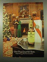 1972 Seagram's V.O. Canadian Whisky Ad - Give Taste