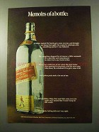 1972 Johnnie Walker Red Label Scotch Ad - Memoirs Of