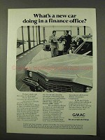 1972 GMAC Financing Ad - New Car in a Finance Office?