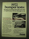 1972 Allstate Insurance Ad - Bumper Tests