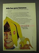 1972 Dole Bananas Ad - Has Gone Bananas
