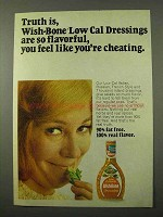 1972 Wish-Bone Low Cal Dressings Ad - Truth Is