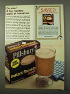 1972 Pillsbury Instant Breakfast Ad - Healthy Glass