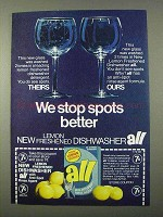 1972 All Dishwasher Detergent Ad - We Stop Spots Better