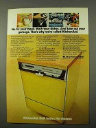 1972 KitchenAid Dishwasher Ad - We Fix Your Meals