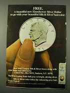 1972 Clairol Silk & Silver Hair Color Ad - Eisenhower