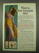 1972 Carnation Slender Ad - Want to Lose 4 Pounds Fast