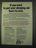 1972 Nytol Sleeping Aid Ad - Put Fears To Rest