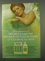 1972 Vaseline Intensive Care Bath Beads and Bath Oil Ad