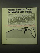 1972 Panama City Florida Ad - Nuclear Industry Comes