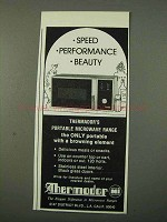 1972 Thermador Microwave Ad - Speed Performance Beauty