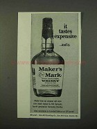1972 Maker's Mark Whisky Ad - It Tastes Expensive