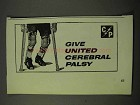1972 United Cerebral Palsy Ad - Give