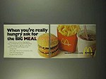 1972 McDonald's Restaurant Ad - Ask For The Big Meal