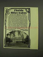 1908 Florida Military Academy Ad - Green Cove Springs