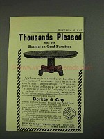 1908 Berkey & Gay Furniture Ad - Thousands Pleased