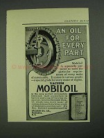 1908 Vacuum Mobiloil Ad - An Oil For Every Part