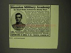 1908 Staunton Military Academy Ad - Ideal Home School