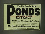 1908 Ponds Extract Ad - The Old Family Doctor