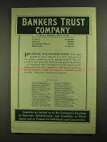 1907 Bankers Trust Company Ad - Prudence