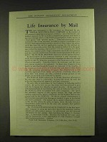 1907 Postal Life Insurance Ad - Life Insurance by Mail