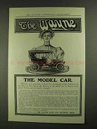1907 The Wayne 30 Car Ad - The Model Car
