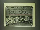 1907 Sapolio Soap Ad - We Are Seven
