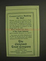 1907 The Cleveland Trust Company Ad - Banking By Mail