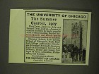1907 The University of Chicago Ad - Summer Quarter