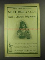 1903 Baker's Cocoa and Chocolate Preparations Ad
