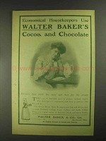 1903 Baker's Cocoa and Chocolate Ad - Housekeepers