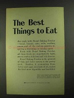1903 Royal Baking Powder Ad - The Best Things to Eat