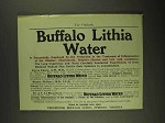 1903 Buffalo Lithia Water Ad - Successfully Employed