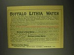 1903 Buffalo Lithia Water Ad - Offered to the Public
