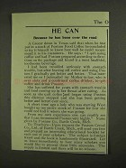 1903 Postum Food Coffee Ad - He Can