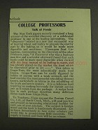 1903 Postum Grape-Nuts Ad - College Professors Talk