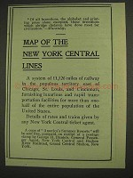 1903 New York Central Lines Railroad Ad