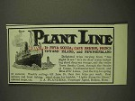 1903 Plant Line Ad - To Nova Scotia