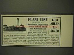 1903 Plant Line Line Ad - Boston to Nova Scotia