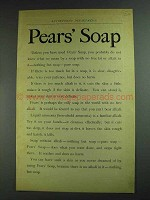 1893 Pears' Soap Ad - Unless You Have Used