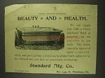 1893 Standard Porcelain-Lined Bath Ad - Beauty Health
