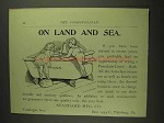 1893 Standard Porcelain-Lined Bath Ad - Land and Sea