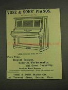 1893 Vose & Sons Piano Ad