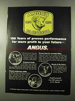 1973 American Angus Association Ad - Proven Performance