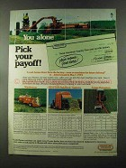 1973 Hesston Windrowers, StakHand, Forage Harvesters Ad