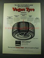 1973 Vogue Tyre Ad - No Other Steel-Belted Radial