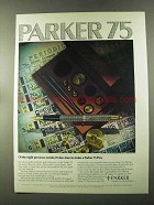 1973 Parker 75 Pen Ad - Eight Precious Metals