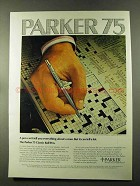 1973 Parker 75 Classic Ball Pen Ad - Can't Tell