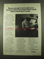 1973 Xerox Learning Systems Ad - Give Salesmen More