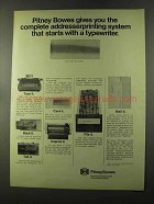 1973 Pitney-Bowes Addresser-Printer Ad - A Typewriter